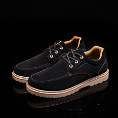 2018 autumn and winter new casual shoes tooling shoes retro England wear shoes breathable shoes black 39 leather