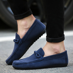 2019 new spring wild summer peas shoes a pedal casual shoes Korean version of the trend lazy shoes blue 39