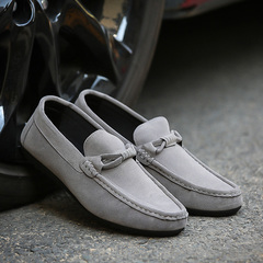 2018 new spring wild summer peas shoes a pedal casual shoes Korean version of the trend lazy shoes gray 39
