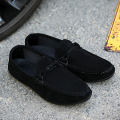 2019 new spring wild summer peas shoes a pedal casual shoes Korean version of the trend lazy shoes black 44