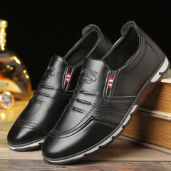 Korean version of the casual set of leather shoes student lazy shoes wild England shoes black 39 leather