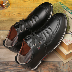 New spring Korean casual lace-up shoes student lazy shoes wild England shoes black 39 leather