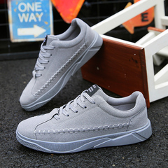 2018 new autumn shoes sports casual men's shoes Korean version of the trend of wild tide shoes gray 39