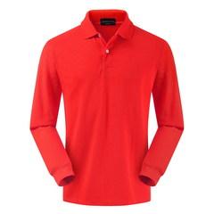 High quality 100% cotton Polo shirts men's long-sleeve  Customized Logo Workwear Long Sleeve T-Shirt Orange M