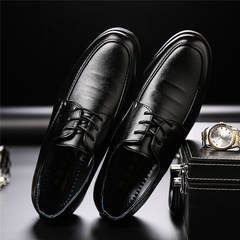 New Men Dress Shoes Men Formal Shoes Classic Business Luxury Men Oxfords JZ812 black Pu leather black 41 PU leather