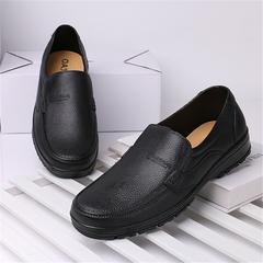 Rain boots Men's Low Shoes Rubber Shoes Non-slip Shoes Fashion Casual Waterproof Shoes 6070 black 44 PVC