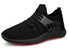 2019 New Fashion Trend Men's Sports Shoes, Versatile And Comfortable Lace Casual Shoes black 42