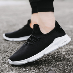 Men's Casual Sports Shoes Running Sports Breathable lightweight wear-resistant non-slip shoes black 38