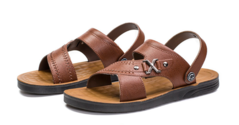 Non-slip beach shoes casual breathable wear soft bottom slippers brown 38