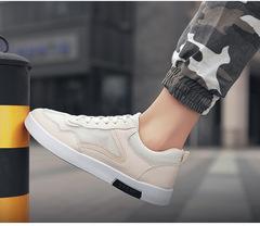 Men's shoes, summer breathable mesh shoes, fashion trend, hollow mesh panel shoes khaki 39