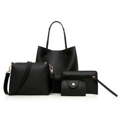2019 new arrival lychee pattern open shoulder bag women bun mother bag four-piece handbags pink as the descriptions