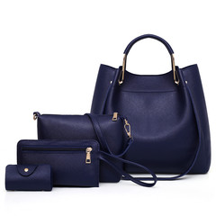 2019 new arrival women wild bag foreign trade mother multi-piece bag shoulder diagonal package navy as the descriptions