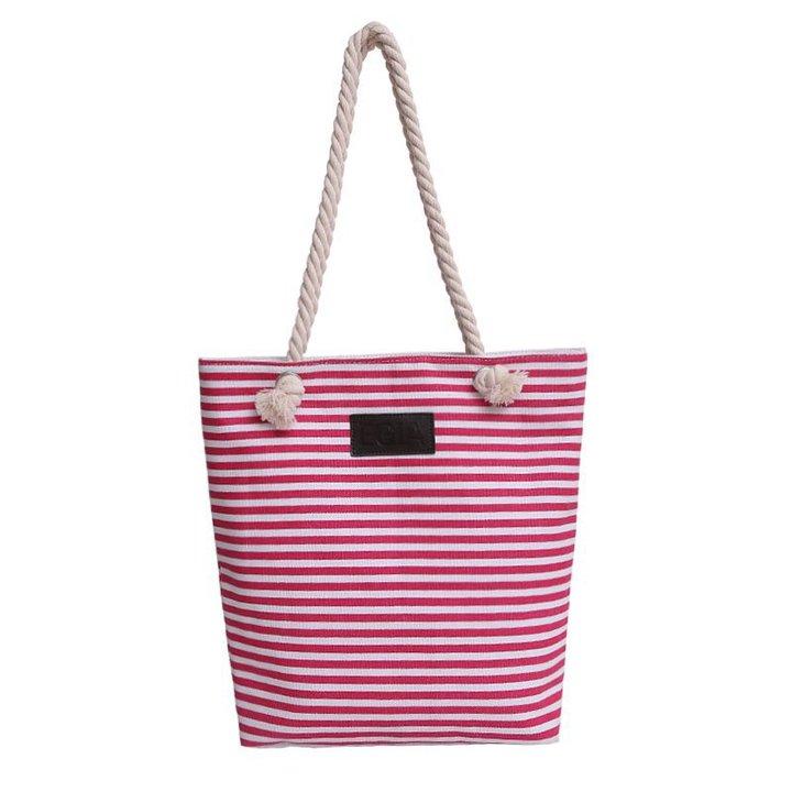 Canvas bag fashion new shoulder bag handbags simple wild women bag shoulder bag striped bag red as the descriptions