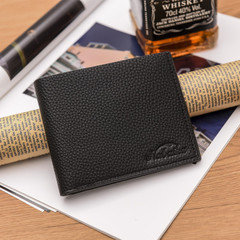 2019 new fashion men's wallet casual wallet two fold wallet clutch black as the descriptions