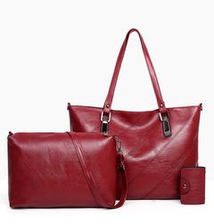 Handbags New women Boston Pillow Bag Retro Fashion Women's Bag Studded Messenger Shoulder Bag red as the descriptions