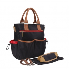 FACTORY SALES Diaper Bag Baby Nappy Large Mummy Backpack Changing Bag black 33*29.5*9cm