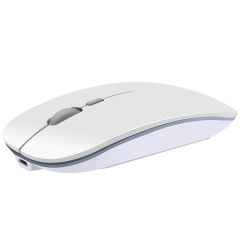 Wireless mouse super thin silent charging mute mouse  portable USB cute mouse notebook  Office white general