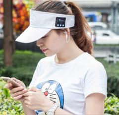 Bluetooth headset VISOR-Visor cap, outdoor baseball cap,wireless headset cap, sun hat