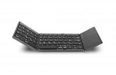 Three system general wireless mini Bluetooth keyboard three folding notebook tablet mobile keyboard general general