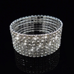 Women's Fashion Jewellery Noble Exquisite Rhinestone Shining Bracelet one color one color one size