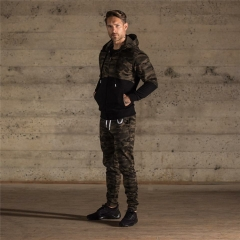 Winter And Autumn Men Camouflage Casual Pants Slim Body Outside Sports Long Trousers Men camouflage zipper m