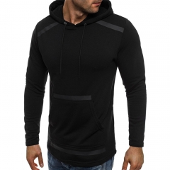 The New Autumn Outfit Is Pure Color Personality Hooded Jacket Casual Menswear black m