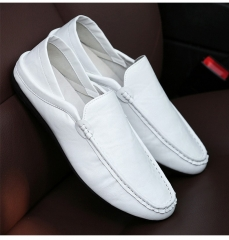Men's Beanie Shoes Go Together With Fashionable Youth's Casual Single Shoes white 39