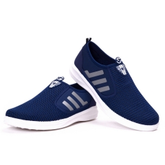 Casual New Men's Fly Fabric Casual Shoes Lazy Man Design A Pedal Man blue 40