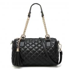 Women's Handbags Fashion Ringer Chain Bag slanting Cross-Over Women's Bag Shoulder Small Bag black one size