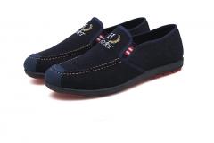 Men's Autumn Air Permeable Casual Shoes Shoes Low Side Wash Canvas blue 39