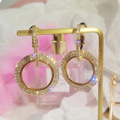 Diamond Earrings For Women With Diamond-Encrusted Geometric Earrings For Simple Earrings gold one size