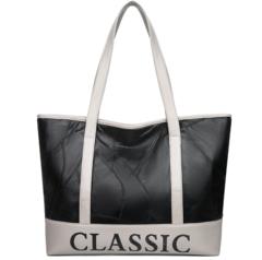 Matching Sheepskin Leather Handbag With Monochrome Leather Shoulder Bag white one size