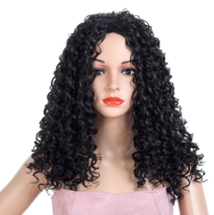 Fashion Wig Small Roll Explosion Hair Wig black one  size