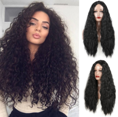 Long curly hair long bangs fashion women wig the picture color one  size