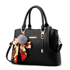 Handbags Women's Bags Casual Simple Versatile Scarves Shoulder Bag Messenger Bag black one size