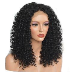 High Temperature Silk Wig Small Roll Long Bangs Corn Hot Black 40cm Wigs  Cap black 40CM