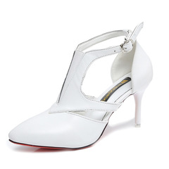 Slim Heels For Office Woman's High Heels In Solid Color Low Top T With Pointy Heels For Sexy Ladies white 35