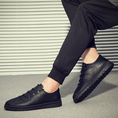 Casual Small Shoes Men's Business Casual Peas Shoes Fashion Wild Dress With Men's Shoes black 39