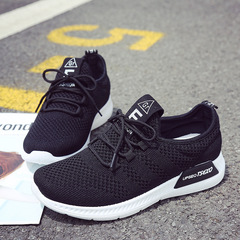 Sports Shoes Women's Breathable Lightweight Running Shoes Women's Shoes Wild Casual Shoes Flat Shoes black 36