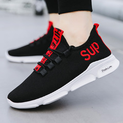 Sports Shoes Men's Net Shoes Front Lace Mesh Casual Breathable Running Shoes Men's Shoes red 39