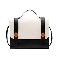 PU Hit Color Bag Mini Wild Messenger Shoulder Bag Small Handbag Female Handbag black one size
