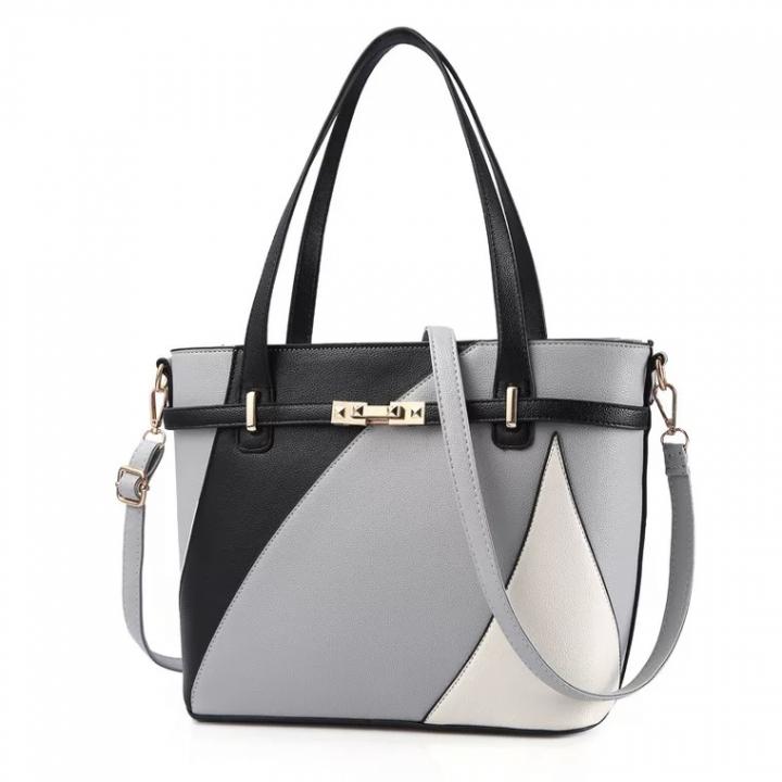 sweet life Women Handbag Tote Bag OL Business Bag Large Capacity Fashion Classic Elegant  Leather grey one size
