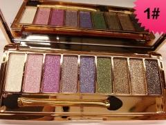 Makeup 9 Colors Waterproof Eyeshadow Glitter Palette with Brush Eye Shadow  Cosmetics 1