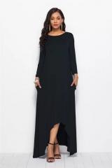 Plus Size Dress Loose Comfortable Casual Design Long Sleeve l black