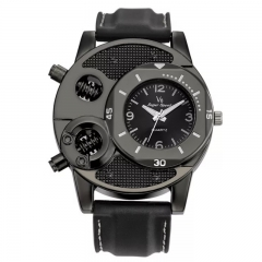 Men's Fashion Wrist Watch Casual Creative Design Sport Wristwatch Quartz Watch black one size