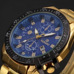 Fashion Wrist Watch Luxury Quartz Stainless Steel Wristwatches For Men Valentines Gift blue one size