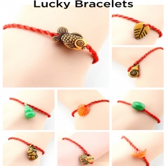 SL Fashion Bracelet Bangle Anklet Jewelry Lucky Jewellery Red Rope For Women Men Random delivery one size
