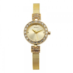 WOKAI Brand Fashion Wrist Watch Women Ladies Vintage Classic Exquisite Wristwatches  Luxury Design gold