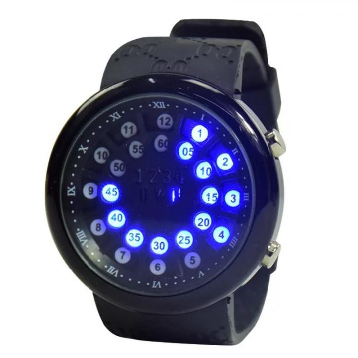 Smart Watch LED Digital Wrist Watch Sport Strap Creative Design Wristwatch Men Women Children black one size