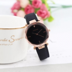 JUSHIKE Brand Fashion Wrist Watch Women Simple Fashion Design Round Dial Wristwatch black